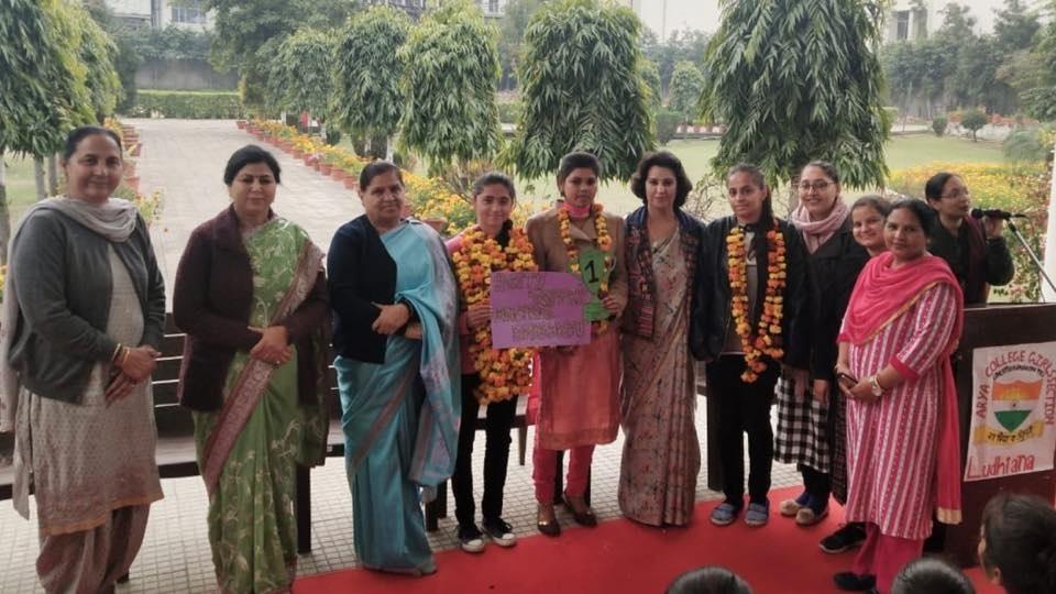 ANCHAL BHARDWAJ SECURED SIXTH RANK IN PANJAB UNIVERSITY (3RD SEMESTER)